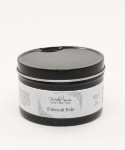 black tin candle 8 second ride 8oz
