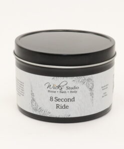 black tin candle 8 second ride 14oz