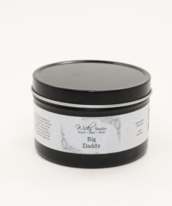 black tin candle big daddy 8oz