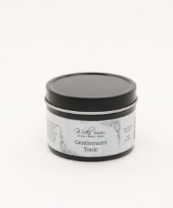 black tin candle gentlemans tonic 4oz