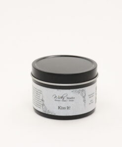 black tin candle kiss it 4oz