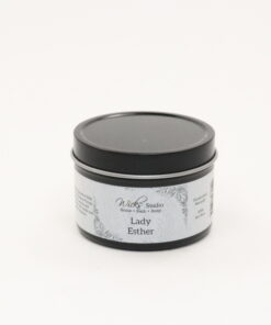 black tin candle lady esther 4oz