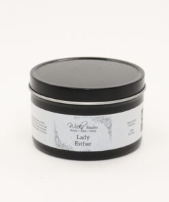 black tin candle lady esther 8oz