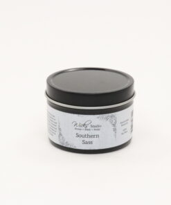 black tin candle southern sass 4oz