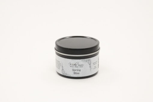 black tin candle spring bliss 4oz