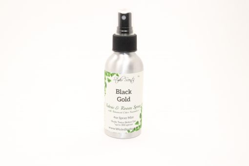fabric room spray black gold