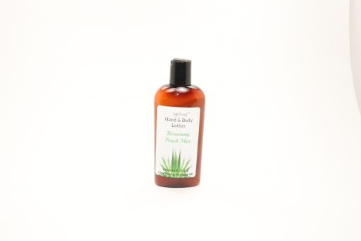 hand body lotion rosemary peach mint 4oz