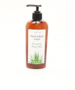 hand body lotion rosemary peach mint 8oz