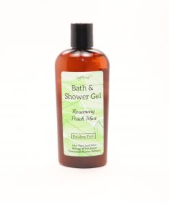 bath shower gel rosemary peach mint 8oz