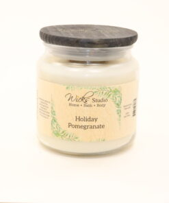 comfort candle holiday pomegranate 16oz