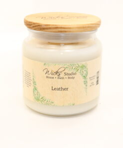 comfort candle leather 16oz