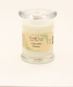 status candle cannbis flower 8oz