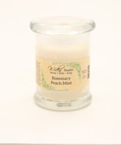 status candle rosemary peach mint 8oz