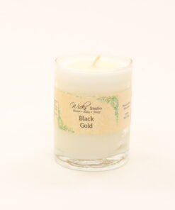 votive candle black gold 3oz