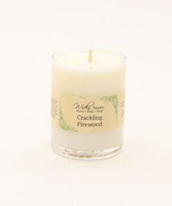 votive candle crackling firewood 3oz