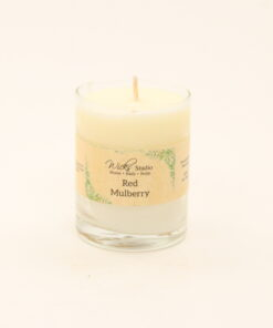 votive candle red mulberry 3oz