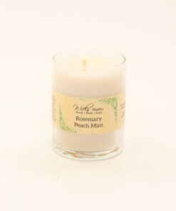 votive candle rosemary peach mint 3oz