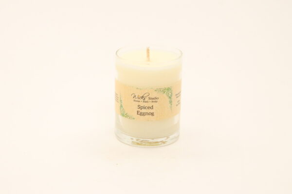votive candle spiced eggnog 3oz