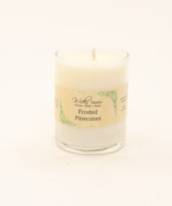 votive candle frosted pinecones 3oz