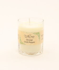 votive candle orange chili pepper 3oz