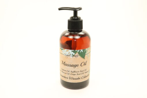 massage oil cucumber wasabi cilantro 8oz
