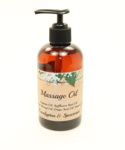 massage oil eucalyptus spearmint 8oz