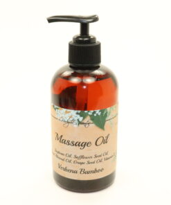 massage oil verbena bamboo 8oz