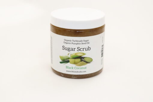 pumpkin sugar scrub black coconut 11oz
