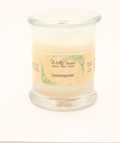status candle lemongrass 12oz