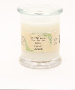 status candle love honor cherish 12oz