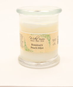 status candle rosemary peach mint 12oz