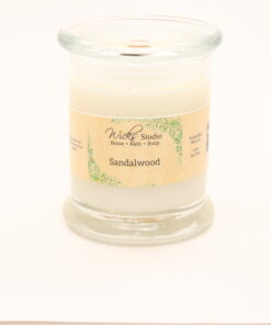 status candle sandalwood 12oz