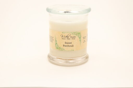 status candle sweet patchouli 12oz