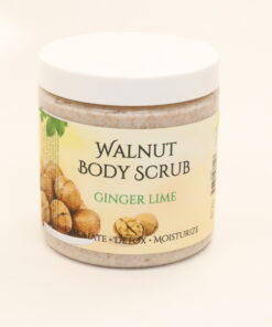 walnut body scrub ginger lime 11oz