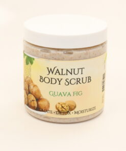 walnut body scrub guava fig 11oz