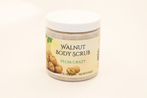 walnut body scrub plum crazy 11oz